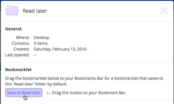 Folder bookmarklet